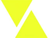 Kleiber Small Luminous Triangle Reflective Stickers, Yellow