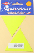 Kleiber Large Triangle Reflective Stickers, Yellow