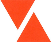Kleiber Small Luminous Triangle Reflective Stickers, Orange