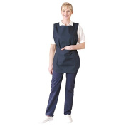 Whites Chefs Apparel B044-2 Tabard with Pocket, Navy Blue