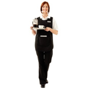 Whites Chefs Apparel B046-2 Tabard with Pocket, Black