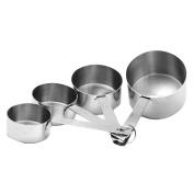 4 Pcs Measuring Cups Spoon Kitchen Tool Stainless Steel Measuring Set Baking Coffee Tea Tools