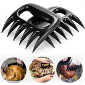 Angker Meat claws, Bear Paws Shredder Claws, Pork Claws, Shredder claws, RUZINIU Grill Sense Food Safe Full Size , Essential for BBQ Pros, Heat Resistant, Dishwasher Safe (Black)- 2 PCS