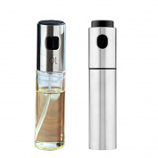 Oil Sprayer, Outgeek 2Pcs Portable Stainless Steel Glass Barbecue Marinade Spray Bottle Vinegar Sprayer for Cooking