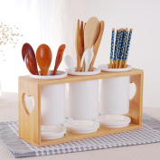 Kitchen Ceramic Flatware Organisers Ceramic chopsticks tube hollow chopsticks chopsticks stand home kitchen utensils racks racks leaching chopsticks box chopsticks cage