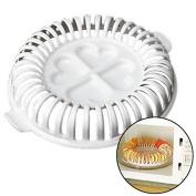 Potato Crisps Fried Chips Maker,AuykoopApple Fruit Home Microwave DIY Baking Tray Rack