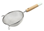 Dr. Oetker 4618 Retro Sieve with Wooden Handle 14 x 27 cm Stainless Steel Silver/Brown, 14 x 14 x 28 cm