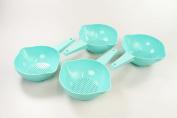 Tupperware kitchen utensil Gold Convenient Sieve Strainer Ling Hand Colander Mint Regen