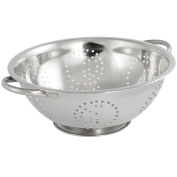 COM-FOUR ® Salad Colander, 0405-42 Kitchen Sieve Made of Stainless Steel With 2 Handles Diameter 28 cm
