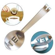 COFCO Stainless Steel Tea Bag Tatgs Squeezer Strainer Holder Grip Mini Sugar Clip Kitchen Bar Tools