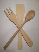 Set 3 Bamboo Cooking Utensil Set