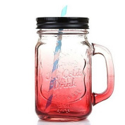 Drinkware, 550ml Tempered Glass Water Other , red