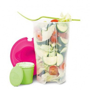 1Pcs Fruit And Vegetable Cups Salad To Go Cup With Fork Keeps Salads Fresh Random Colour