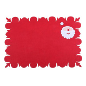 Demiawaking Christmas Red Placemat Beer Wine Coffee Drinks Pad Dinning Table Mat Coaster Mats for Xmas Kitchen Home Decor