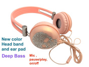 blingustyle Iridescent crystal Skull design fashion Ear-Cup with MIC/colour headband ear pad DJ headphone ,same colour band, ear-pads, wire. mic , on/off (pause/play), deep bass founctions . P-S
