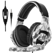 Stereo Gaming Headset 3.5mm PC Game Headphones Noise Isolation Over-ear Headset with Microphone for PS4 Xbox one Laptop Computer and Smart Phone