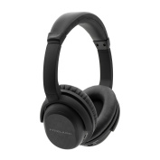 Active Noise Cancelling Stereo ANC Bluetooth Headphones Fitzladd Wireless Rotatable Over-Ear Headsets Remote Control with Built-in Microphone Detachable Cable-Black