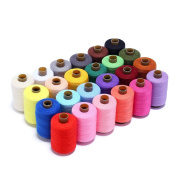 Wholesale Candora 24 Colour 1000 Yards Each Sewing Thread for Hand or Machine Sewing