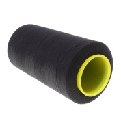 MagiDeal 1000 Yard Black Sewing Thread Spool Polyester Sewing Thread for Jeans Canvas 20s/3