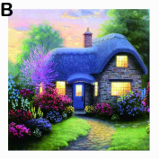 Gemini_mall® Diamond Painting Full Kits 5D DIY Handmade Rhinestone Cross-Stitching Set Mosaic Home Room Decoration Sweet Cabin