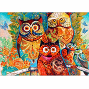 Gemini_mall® 5D Diamond Painting Cross Stitch Kits DIY Handmade Embroidery Painting Rhinestone Cross-Stitching Set Mosaic Home Room Decoration Animal Owl