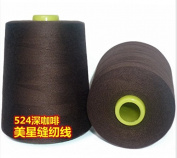 6000 Yards Coffee Dark Brown Reel 20s 2 202 Tex 60 Tickets Size 50 Spool Polyester PP SP Sewing Thread Hand Machine industrial Embroidery Yarn Quilting Serger Clothes Jeans Canvas Oxford Cloth Leather