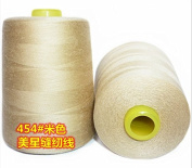 6000 Yards Beige Reel 20s 2 202 Tex 60 Tickets Size 50 Spools Polyester PP SP Sewing Thread Hand Machine industrial Embroidery Yarn Quilting Serger Clothes Jeans Canvas Oxford Cloth Leather