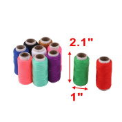 sourcingmap® Family Polyester Handicraft DIY Clothes T-shirt Sewing Thread Spool Reel 10 Pcs
