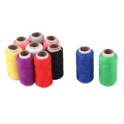 sourcingmap® Tailor Polyester Handicraft DIY T-shirt Dress Sewing Thread Spool Reel 10 Pcs