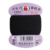 Home Thread Taiyou Hand Sewing Thread 20th Number 100m col. Black 01-0120