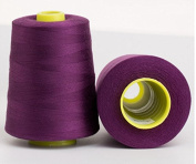 6000 Yards Purple Reel 20s 2 202 Tex 60 Tickets Size 50 Spools Polyester PP SP Sewing Thread Hand Machine industrial Embroidery Yarn Quilting Serger Clothes Jeans Canvas Oxford Cloth Leather