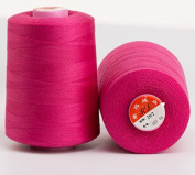 6000 Yards Hot Pink Reel 20s 2 202 Tex 60 Tickets Size 50 Spools Polyester PP SP Sewing Thread Hand Machine industrial Embroidery Yarn Quilting Serger Clothes Jeans Canvas Oxford Cloth Leather