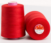 6000 Yards Red Reel 20s 2 202 Tex 60 Tickets Size 50 Spools Polyester PP SP Sewing Thread Hand Machine industrial Embroidery Yarn Quilting Serger Clothes Jeans Canvas Oxford Cloth Leather