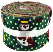 Fabric Freedom Vintage Snowman Jelly Baby Roll, 100% Cotton, Multicoloured, 9 x 9 x 7 cm
