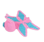 Kingwin Cute Cartoon Butterfly Knitted Hat and Small Pants Set Photography Costume for Baby