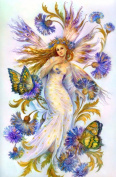 5D Diamond Painting Kit DIY Rhinestone Embroidery Cross Stitch Arts Craft For Home Wall Decors 11.8*15.7 inch (30*40 cm) Flower Fairy Butterfly