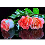 5D Diamond Painting Kit, Roses DIY Rhinestone Embroidery Cross Stitch Arts Craft For Home Wall Decor 11.8*15.7 inch