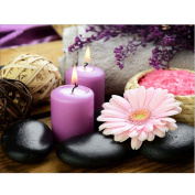 5D Diamond Painting Kit, Pink Chrysanthemum And Candle DIY Rhinestone Embroidery Cross Stitch Arts Craft For Home Wall Decor 11.8*15.7 inch