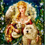 5D Diamond Painting Kit DIY Rhinestone Embroidery Cross Stitch Arts Craft For Home Wall Decors 11.8*11.8 inch (30*30cm) .Christmas Blonde Queen