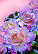 5D Diamond Painting Kit DIY Rhinestone Embroidery Cross Stitch Arts Craft For Home Wall Decor 11.8*15.7 inch (30*40 cm) Colourful Flowers