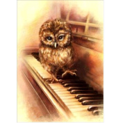 5D Diamond Painting Kit DIY Rhinestone Embroidery Cross Stitch Arts Craft For Home Wall Decors Owls 11.8*15.7 inch