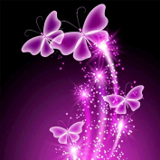 5D Diamond Painting Kit, 4 Pink Butterflies DIY Rhinestone Embroidery Cross Stitch Arts Craft For Home Wall Decor 11.8*11.8 inch