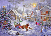 Christmas 5D Diamond Painting DIY Diamond Painting Embroidery Cross Crafts Stitch DIY Kits Home Decor 5D Diamond Rhinestone Pasted Embroidery Painting Cross Stitch Christmas house Pattern