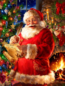 Christmas 5D Diamond Painting DIY Diamond Painting Embroidery Cross Crafts Stitch DIY Kits Home Decor 5D Diamond Rhinestone Pasted Embroidery Painting Cross Stitch Santa Claus Pattern