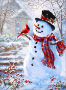 Christmas 5D Diamond Painting DIY Diamond Painting Embroidery Cross Crafts Stitch DIY Kits Home Decor 5D Diamond Rhinestone Pasted Embroidery Painting Cross Stitch Christmas snowman Pattern