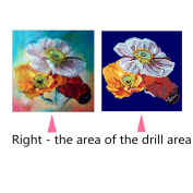 Buimin 5D Diamond Rhinestone Flower Animals Pattern Paste Embroidery Painting Cross Stitch Home Decoration