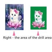 Buimin 5D Diamond Rhinestone Flower Animals Pattern Paste Embroidery Painting Cross Stitch Home Decoration