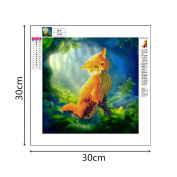 Buimin 5D Animal Diamonds Rhinestone Stickers Embroidery Painting Cross Stitch Home Decoration