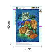 Buimin 5D Animal Diamonds Rhinestone Stickers Embroidery Painting Cross Stitch Home Decoration