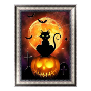 Romancy Diamond Embroidery Halloween Cat Painting DIY Crafts